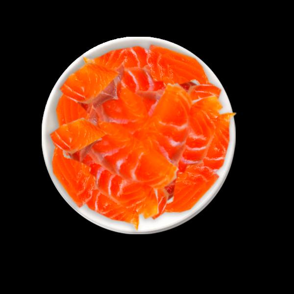Alimento para mascotas de salmón
