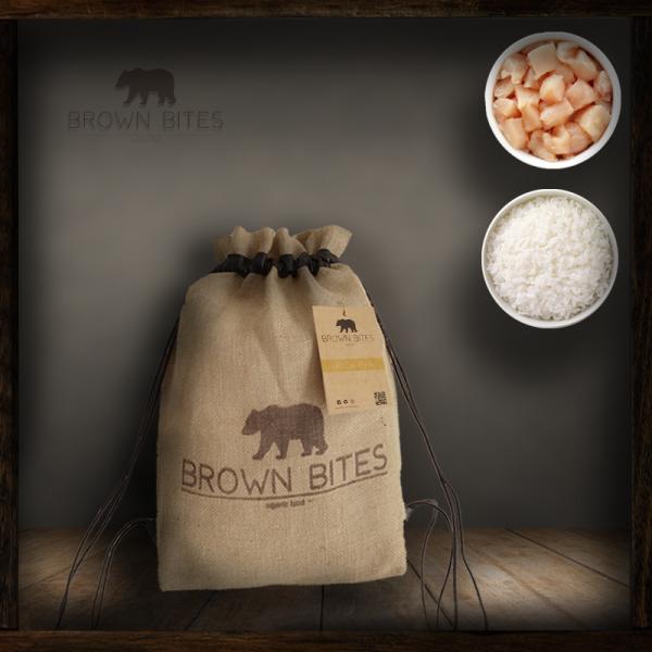 Comida para perros ecológica - Pollo y Arroz - bolsa 4kg